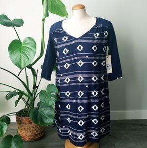 ROXY   NWT Blue Pattern Dakota Mini Dress